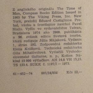 antikvární kniha Život člověka, 1974