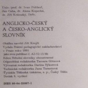 antikvární kniha Anglicko-český a česko-anglický slovník, 1991