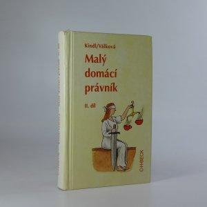 náhled knihy - Malý domácí právník. II. díl.