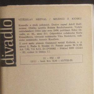 antikvární kniha Milenci z kiosku : komedie o 3 jednáních, 1963