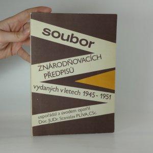 náhled knihy - Soubor znárodňovacích předpisů vydaných v letech 1945-1951