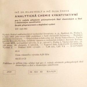 antikvární kniha Analytická chemie kvantitativní, 1965