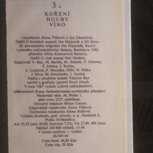 antikvární kniha 3x koření, houby, víno. Ke specialitám sovětské kuchyně, 1987