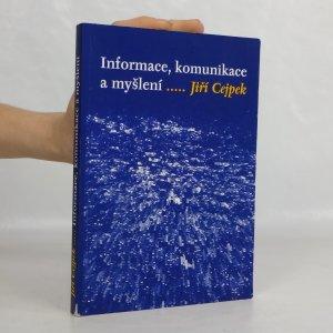náhled knihy - Informace, komunikace a myšlení: úvod do informační vědy