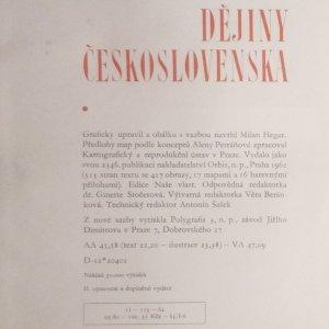 antikvární kniha Dějiny Československa, 1962