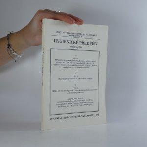 náhled knihy - Hygienické předpisy ministerstva zdravotnictví a sociálních věcí České republiky. Svazek 65