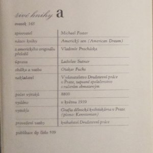 antikvární kniha Americký sen, 1939