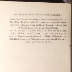 antikvární kniha Vítr se vrací, 1953