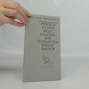 náhled knihy - Podľa čoho rozpoznáme štrukturalizmus?