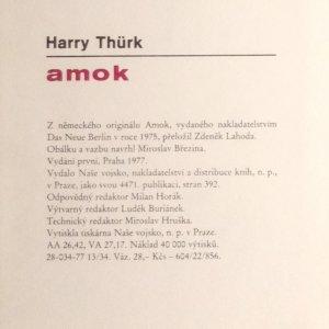 antikvární kniha Amok, 1977