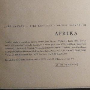 antikvární kniha Afrika, 1962