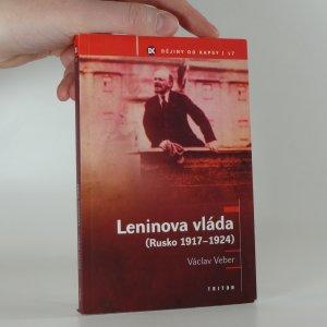 náhled knihy - Leninova vláda : (Rusko 1917-1924)