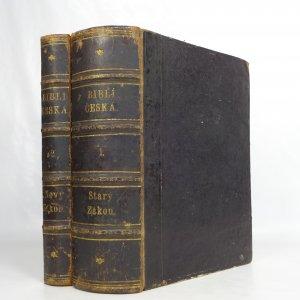 náhled knihy - Biblí Česká, čili, Písmo svaté starého i nového zákona + Život Pána našeho Ježíše Krista z roku 1864 (Starý Zákon v jednom svazku, Nový Zákon a Život... společně ve druhém)