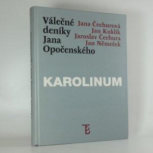 náhled knihy - Válečné deníky Jana Opočenského