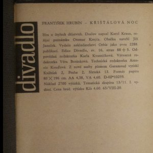 antikvární kniha Křišťálová noc. Hra o 4 dějstvích, 1961