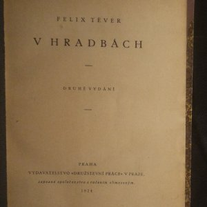 antikvární kniha V hradbách, 1924