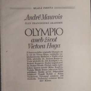 antikvární kniha Olympio aneb život Victora Huga (2 svazky), 1977