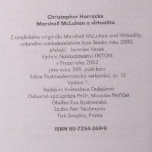 antikvární kniha Marshall McLuhan a virtualita, 2002