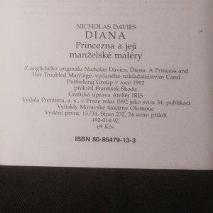 antikvární kniha Diana. Princezna a její manželské maléry, 1992