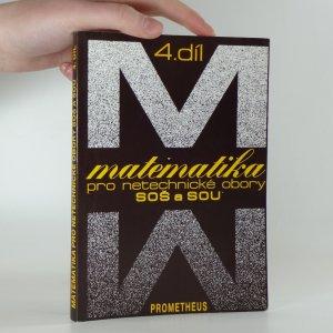 náhled knihy - Matematika pro netechnické obory SOŠ a SOU 4. díl
