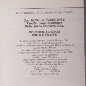antikvární kniha Pohybem a dietou proti otylosti, 1990
