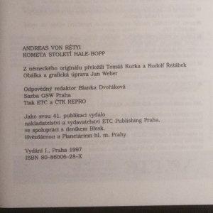 antikvární kniha Kometa století Hale-Bopp, 1997