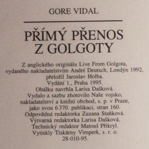 antikvární kniha Přímý přenos z Golgoty, 1995