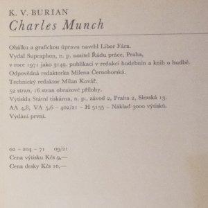 antikvární kniha Charles Munch, 1971