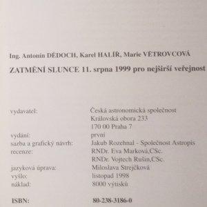 antikvární kniha Zatmění slunce 11. srpna 1999. Průvodce pro nejširší veřejnost, 1998
