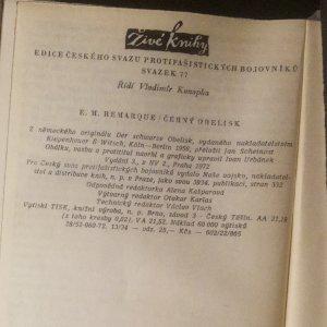antikvární kniha Černý obelisk , 1972