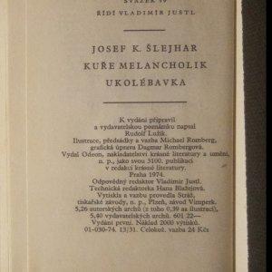 antikvární kniha Kuře melancholik. Ukolébavka., 1974
