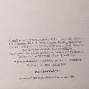 antikvární kniha Sušené květiny. Sběr, sušení, aranžování, 1992