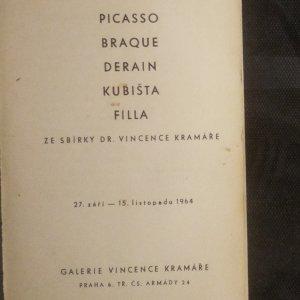 antikvární kniha Picasso, Braque, Derain, Kubišta, Filla. Se sbírky dr. Vincenta Kramáře, 1964