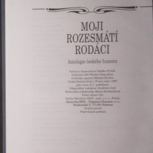antikvární kniha Moji rozesmátí rodáci. Antologie českého humoru, 1997