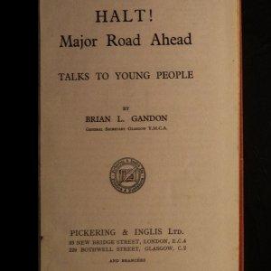 antikvární kniha Halt! Major Road Ahead talks to young people, neuveden