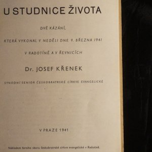 antikvární kniha U studnice života, 1941