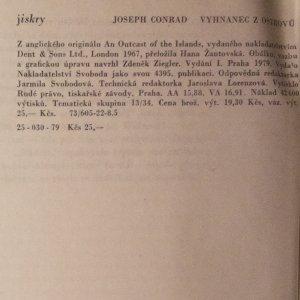 antikvární kniha Vyhnanec z ostrovů, 1979