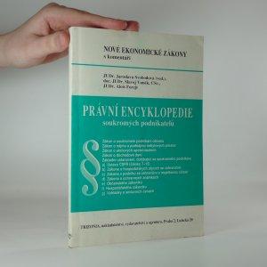 náhled knihy - Nové ekonomické zákony. Právní encyklopedie soukromých podnikatelů