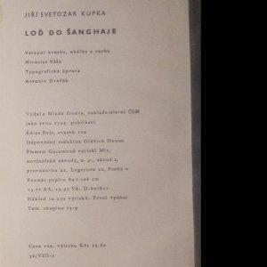 antikvární kniha Loď do Šanghaje, 1962