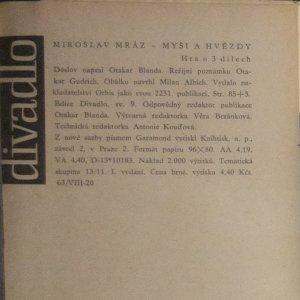 antikvární kniha Myši a hvězdy, 1961