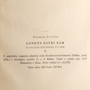 antikvární kniha Londýn patří nám, I. a II. díl, 1947