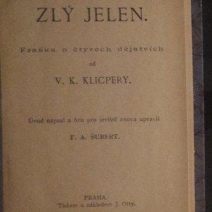 antikvární kniha Zlý jelen , 1926