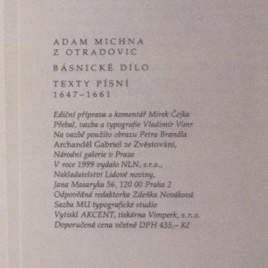 antikvární kniha Básnické dílo texty písní 1647-1661, 1999