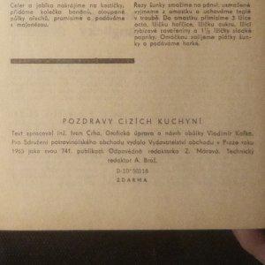 antikvární kniha Pozdravy cizích kuchyní, 1965
