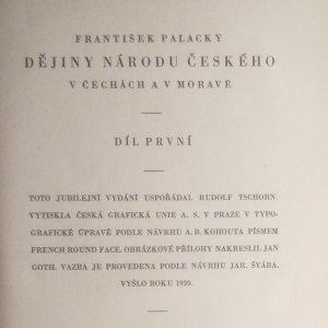 antikvární kniha Dějiny národu českého v Čechách a v Moravě . I.-VI. díl, 1939