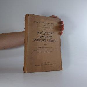 náhled knihy - Počáteční operace světové války . Část I.