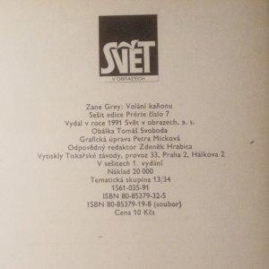 antikvární kniha Volání kaňonu (3 sešity), 1991