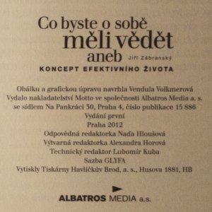 antikvární kniha Co byste o sobě měli vědět, aneb, Koncept efektivního života, 2012