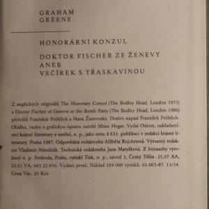 antikvární kniha Honorární konzul, Doktor Fisher ze Ženevy, 1987