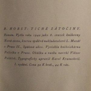 antikvární kniha Tiché zátočiny, 1942
